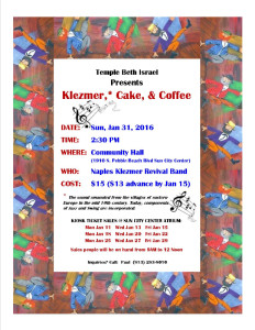 Klezmer fund raiser flyer with address